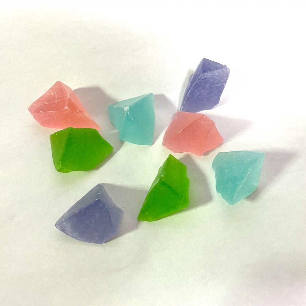 旅菓子東京33番両国 花氷<琥珀糖> (メロン・ペパーミント・イチゴ・キョホウ・紅白)
